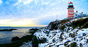 Winter Digital Photo Scene Posters - Quoddy Head Lighthouse in Winter 3 Poster by ABeautifulSky  Photography