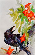 Yellow Beak Painting Metal Prints - Quoi Metal Print by Beverley Harper Tinsley