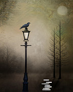 Poe Metal Prints - Quote the Raven Metal Print by Charlene Murray Zatloukal