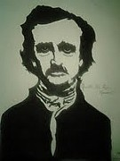 Edgar Allan Poe Drawings - Quoth the Raven  Nevermore by Mark Norman II