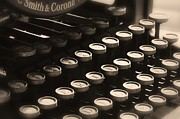 Typewriter Keys Photos - Qwerty by Elizabeth Budd