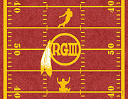 Redskins Posters - R G 3 Poster by Cristophers Dream Artistry