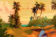 Impressionism Digital Art Originals - R16 Tropical Grace large by Dan Young
