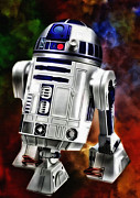 Air Travel Mixed Media Prints - R2d2 Print by Todd and candice Dailey