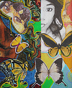 Kevin J Cooper Artwork - Ra Basstress Butterfly...