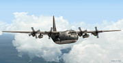 Warbird Mixed Media - RAAF C-130 Hercules by Walter Colvin