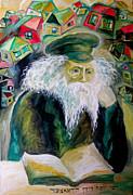 Rabbi Yosef Rosen The Rogatchover Gaon Print by  Leon Zernitsky