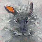 Grumpy Face Posters - Rabbit Fluff Poster by Nancy Merkle