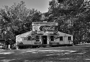 Coca-cola Signs Metal Prints - Rabbit Hash 2 BW Metal Print by Mel Steinhauer
