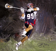 Scott Melby Framed Prints - Rabil Lacrosse Framed Print by Scott Melby
