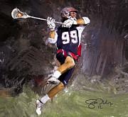 Rabil Lacrosse Print by Scott Melby