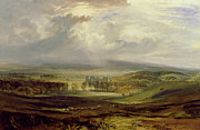 Cloudy Paintings - Raby Castle by Joseph Mallord William Turner