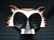 Featured Sculptures - Raccoon Mask by Fibi  Bell