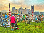 Action Sport Arts Prints - Race Day Dawning at the Pittsburgh Triathlon 2013 Print by Digital Photographic Arts