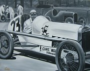 Grisaille Paintings - Race Day by Joseph Love