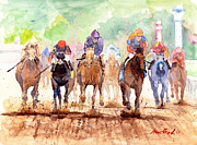 Jockey Painting Originals - Race Day by Max Good