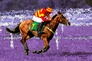 Jockey Paintings - Race Horse in my Dreams by Bruce Nutting