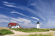 New England Lighthouse Prints - Race point Light Print by Bill  Wakeley