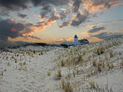 Photos Of Lighthouses Prints - Race Point Lighthouse Print by Skip Willits