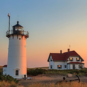 New England Lighthouse Prints - Race Point Lighthouse Square Print by Bill  Wakeley