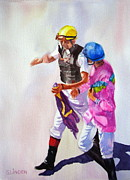 Silks Prints - Race Rehash Print by Sandy Linden