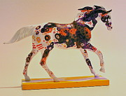 Painted Ponies Art - Races the Storm Right Side by Bob Coonts