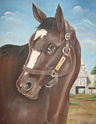 Horse Racing Paintings - Rachel Alexandra at StoneStreet Farms by Patrice Torrillo