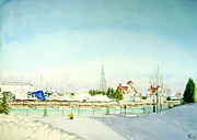 Maria Varga-Hansen - Racine Harbor in Winter