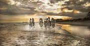English Bridle Art - Racing Down the Stretch by East Coast Barrier Islands Betsy A Cutler