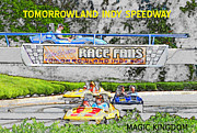 Walt Disney World Florida Art - Racing dreams by David Lee Thompson