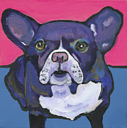 Custom Dog Portrait Paintings - Radar by Pat Saunders-White