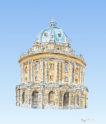 Universities Digital Art Metal Prints - Radcliffe Camera Metal Print by Elizabeth Lock