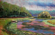 Painted Pastels - Raders Pond Summer by Tim  Swagerle