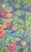 Kendall Kessler Paintings - Radford Library Butterfly Garden by Kendall Kessler