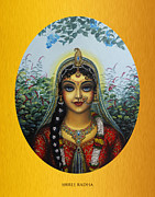 Devotional Art Prints - Radha Print by Vrindavan Das