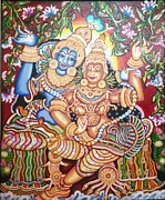 Kerala Murals Metal Prints - Radheshyam Metal Print by Jayashree