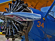 Airplane Radial Engine Photos - Radial Engine by Lamyl Hammoudi