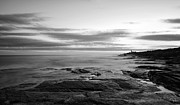 New England Lighthouse Prints - Radiance Of its Light Black and White Print by Lourry Legarde