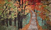 Autumn Landscape Tapestries - Textiles Posters - Radiant Beauty Poster by Anita Jacques