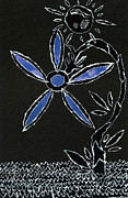 Gestures Mixed Media Metal Prints - Radiant day flower in the night sky  Metal Print by Kenneth James