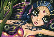 Aceo Prints - Radiant Pearl Print by Elaina  Wagner