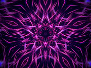 Symmetry Originals - Radiating Purple by Steven Parker