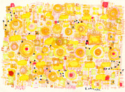Patterned Drawings Metal Prints - Radiating Metal Print by Regina Valluzzi