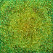 Green Originals - Radiation with Green Yellow and Orange  by Dean  Triolo