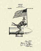 Radiator Drawings Posters - Radiator Ornament 1918 Patent Art Poster by Prior Art Design