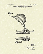 Radiator Drawings Posters - Radiator Ornament 1937 Patent Art Poster by Prior Art Design
