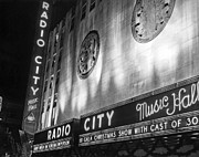 Iconic Radio Posters - Radio City Music Hall Marquee Poster by Underwood Archives
