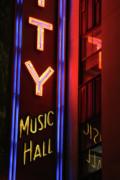 Radio City Neon Print by Karol  Livote