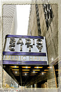 Skates Prints - Radio City Sign NYC Print by Geri Scull