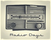 1950s Music Prints - Radio Days Print by Edward Fielding